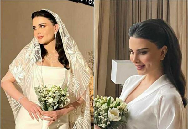 لإطلالة زفاف ملكية كالمودل السورية لورا