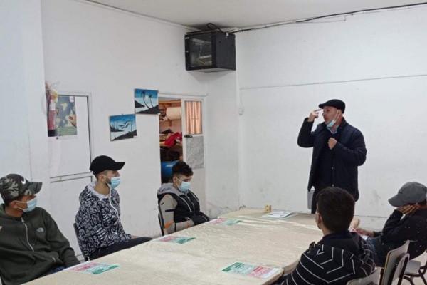 مركز شبيبة نابلس يعقد لقاءً توعوياً لطلبته