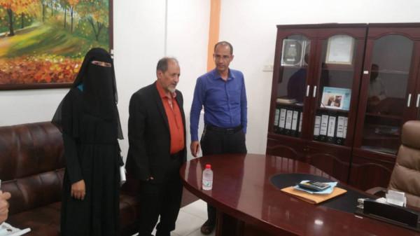 إجتماع منظمة التعاون العربي ومستشار محافظة عدن في مكتب التنسيق بمحافظة عدن لإئتلاف الخير