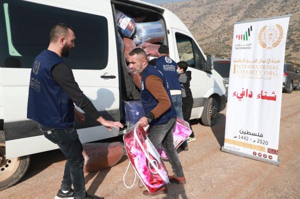 """طوباس: هيئة الأعمال الخيرية تطلق حملة """"شتاء دافئ في فلسطين"""" من العقبة"""