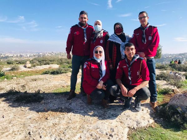 مجموعة أبناء الريف الكشفية تغرس الأشجار في يوم الشهيد الفلسطيني