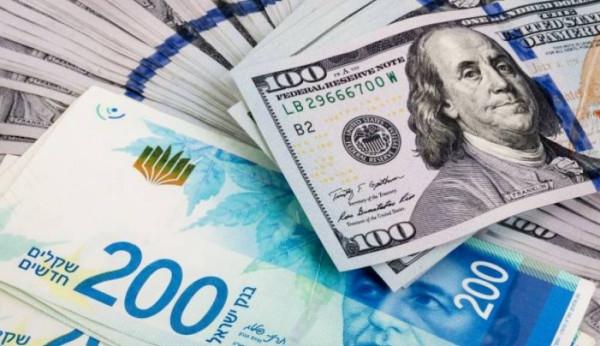 موقع إسرائيلي: انخفاض جديد بسعر الدولار مقابل الشيكل ليصل إلى 3.179