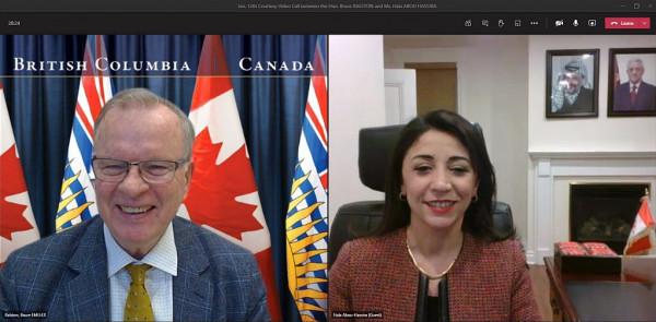 كندا: السفيرة أبو حصيرة تلتقي وزير الطاقة والتعدين