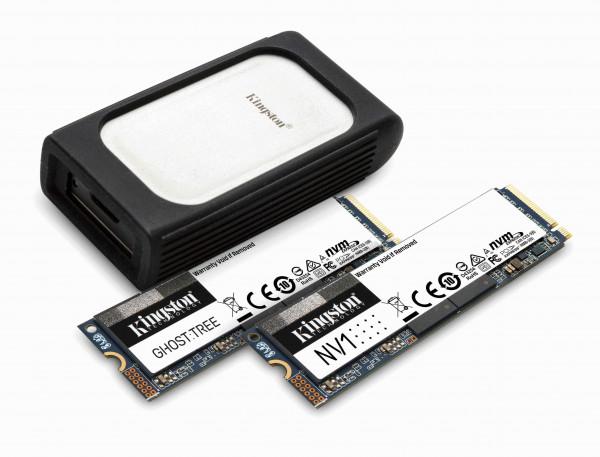 كينغستون تعرض مجموعتها الجديدة من أقراص الحالة الصلبة NVMe SSD