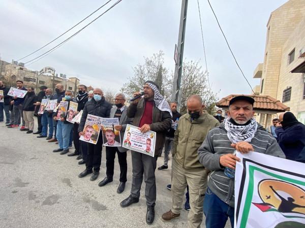 بيت لحم: وقفة تضامنية مع الأسير حسين مسالمة المصاب بسرطان الدم