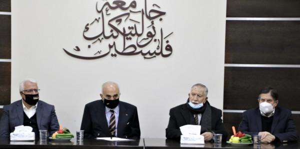 """جامعة بوليتكنك فلسطين تستضيف رجل الأعمال الفلسطيني """"منيب المصري"""""""