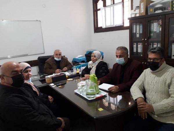مجلس ادارة النقابة العامة لعمال الغزل والنسيج يلتئم في مدينة غزة