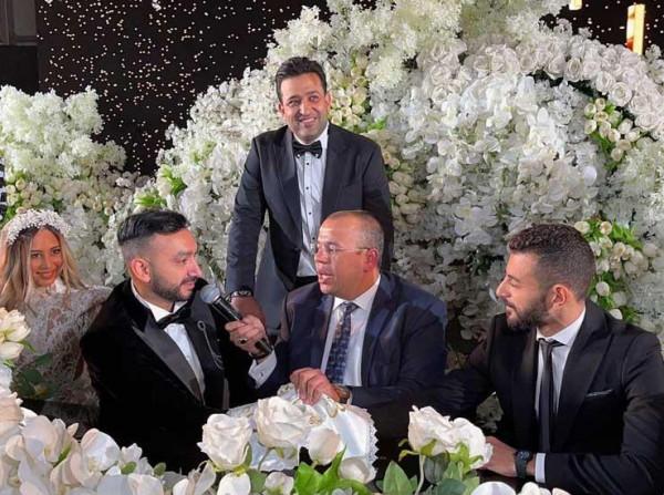 شاهد: حفل زفاف نادر حمدي بحضور تامر حسني وكارمن سليمان