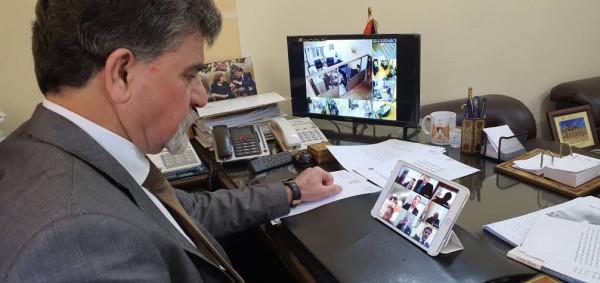 السفير عبد الهادي يشارك باجتماع السفراء بدمشق مع الممثل المقيم للأمم المتحدة بسوريا