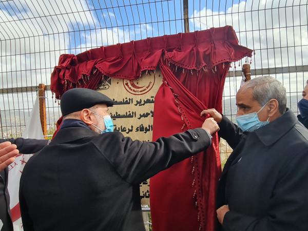 زيارة والهباش يضعان حجر الأساس لمشروع بيت الوفاء للمسنين في نابلس