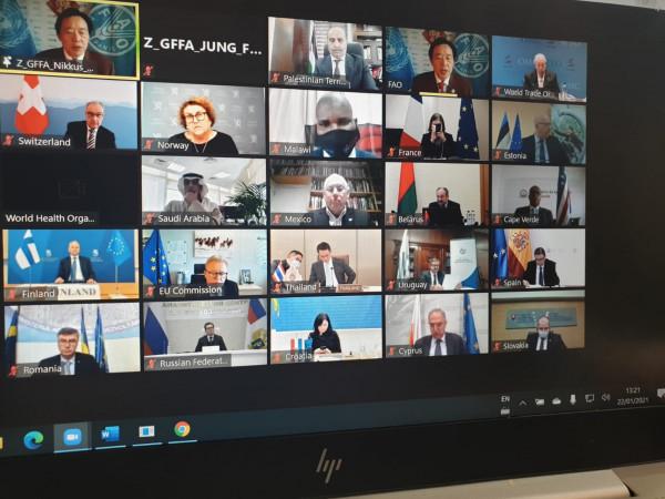 وزير الزراعة يشارك في أعمال مؤتمر وزراء الزراعة الافتراضي ببرلين