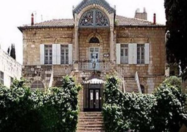 مخطط استيطاني لتحويل قصر المفتي الحسيني بالقدس إلى كنيس