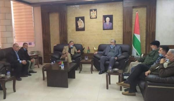 المحافظ أبو بكر يستقل المدير الجديد لمديرية عمل طولكرم