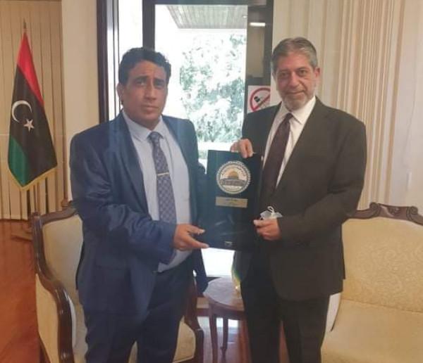 طوباسي يلتقي رئيس المجلس الرئاسي الليبي