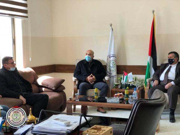رئيس بلدية بيت لحم انطون سلمان يزور جامعة فلسطين التقنية بالعروب