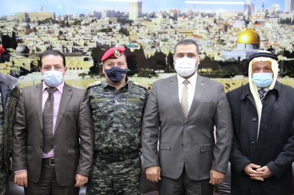 النائب العام يستقبل مدير عام وضباط جهاز الشرطة العسكرية