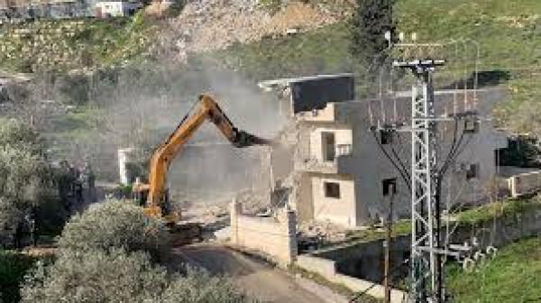 هدم منزل المواطن المقدسي فادي عليان في القدس المحتلة