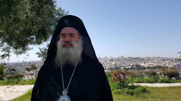 المطران حنا يدعو لتضافر الجهود من أجل التصدي لمحاولات ومؤامرات تغيير طابع القدس