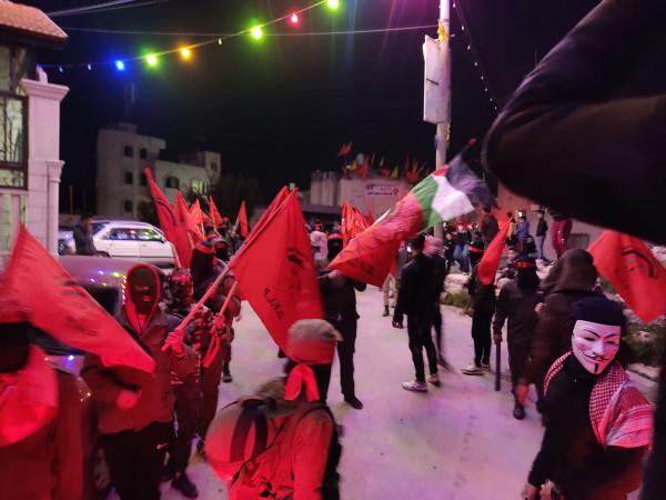 مسيرة في عصيرة القبلية بمناسبة انطلاقة الجبهة الديمقراطية