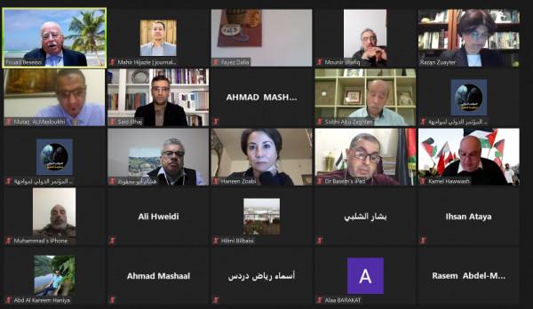 """المؤتمر الشعبي لفلسطينيي الخارج ينظم ندوة بعنوان """"حصاد التطبيع"""""""