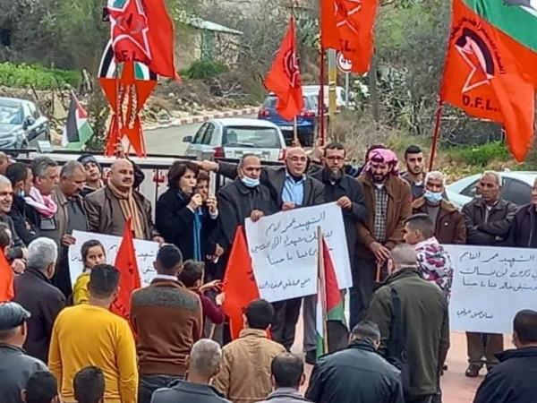 الديمقراطية في جنين تحي ذكرى انطلاقتها بافتتاح دوار الشهيد عمر القاسم