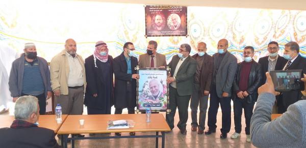 مدرسة فتحي البلعاوي بالوسطى تنظم حفل تأبين للمعلمين الراحلين القريناوي وأبو مدين