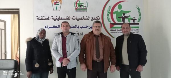 تجمع الشخصيات الفلسطينية المستقلة يستقبل وفداً من الإتحاد الفلسطيني للبيسبول والسوفتبول