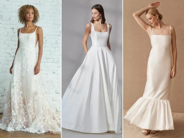 شاهدي: أحدث صيحات فساتين الزفاف في 2021