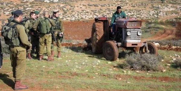 مستوطنون يستولون على طريق زراعية في سلفيت