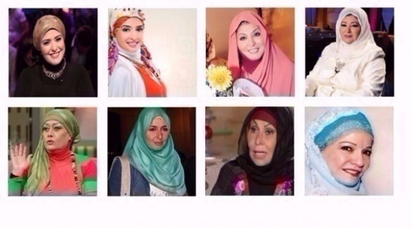 شاهد: فنانات ظهرت بالحجاب و من دون مكياج