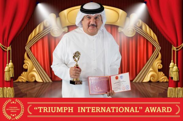 محمد الأفخم يحصل على جائزة ترايمف الدولية الثقافية ويهديها لحاكم الفجيرة