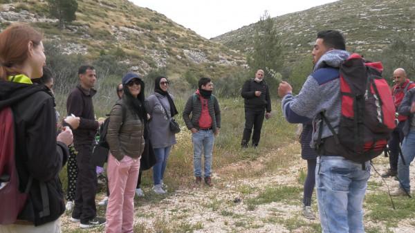 مسار فلسطين ينظم رحلة تعريفية للصحفيين للمطقع الجديد