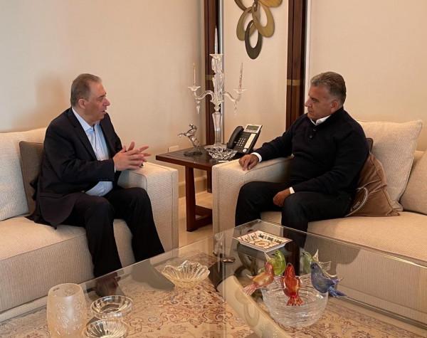 اللواء عباس ابراهيم يلتقي السفير دبور