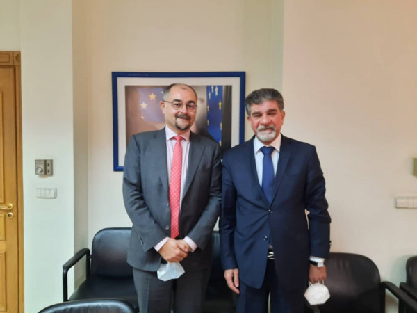 عبد الهادي يطلع القائم بأعمال بعثة الاتحاد الأوروبي لسوريا على المستجدات الفلسطينية