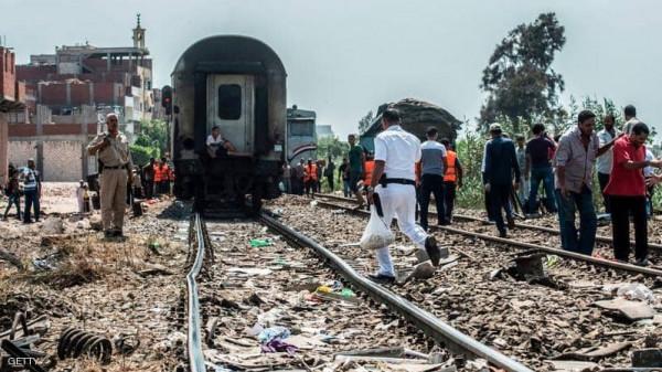 شاهد: جرحى جراء خروج قطار عن مساره في مصر