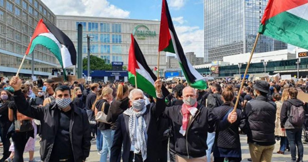 وقفة تضامنية مع الاسرى الفلسطينيين في العاصمة الألمانية برلين