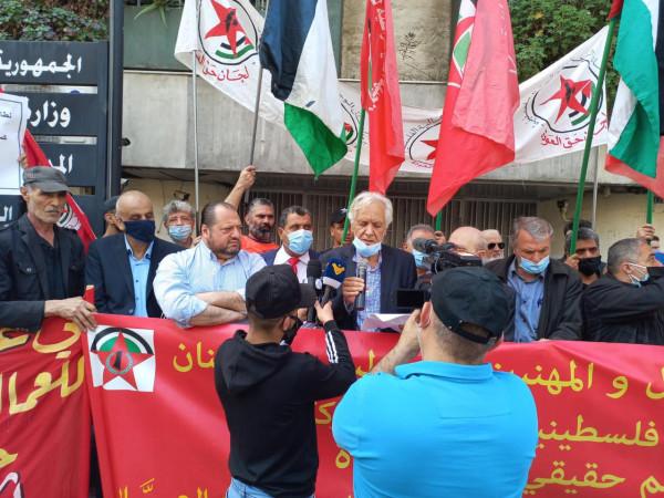 """قطاع العمال في """"الديمقراطية"""" ينظم اعتصاماً جماهيرياً وعمالياً بمناسبة عيد العمال"""
