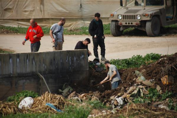 نابلس: مستوطنون يحرقون أراضٍ زراعية ويعتدون على مركبات المواطنين