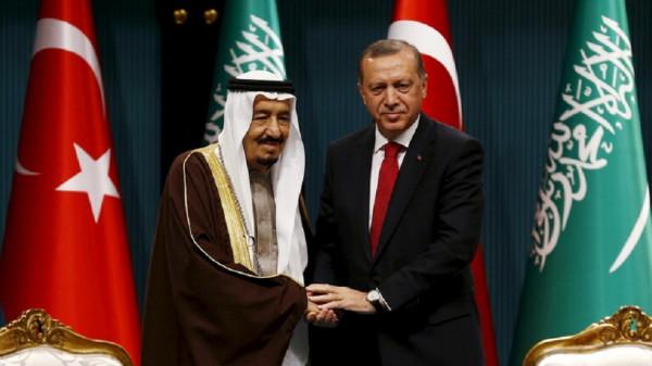 أردوغان يبحث مع العاهل السعودي العلاقات بين البلدين