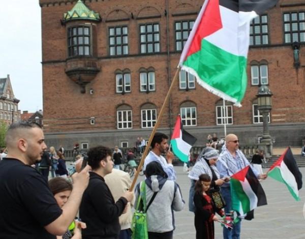 الجالية الفلسطينية في الدنمارك تنظم وقفة لمساندة القدس