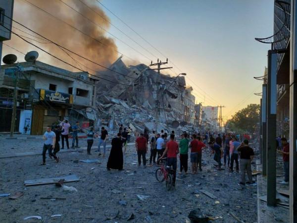 لجنة دعم الصحفيين: تدمير برج الشروق يستدعي تحركاً عاجلاً من المؤسسات الدولية