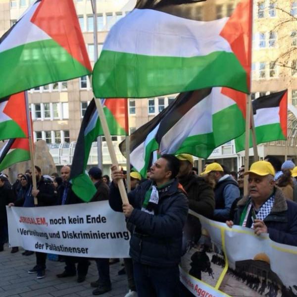 مظاهرة بألمانيا استنكاراً للعدوان على قطاع غزة