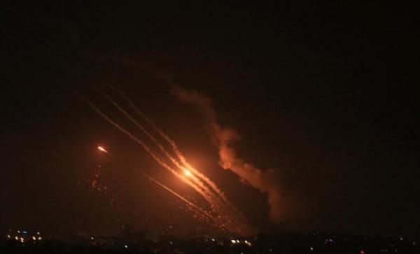 شاهد: صواريخ المقاومة في سماء القدس المحتلة