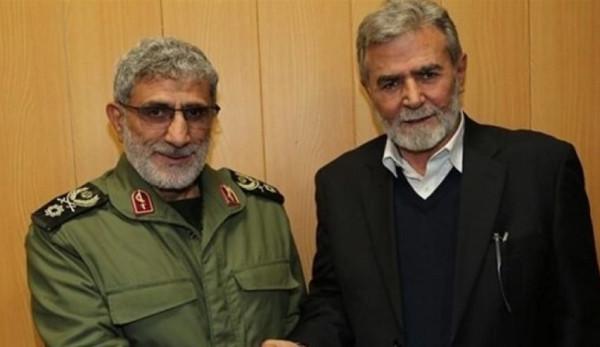 تفاصيل اتصال هاتفي بين زياد النخالة وقائد فيلق القدس الإيراني