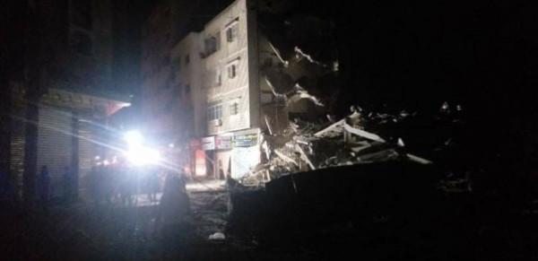 شاهد: غارات الاحتلال تخلف دماراً كبيراً في شارعي الوحدة والثورة وسط مدينة غزة