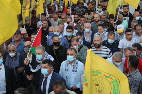 مسيرة في مخيم البرج الشمالي اسناداً للفلسطينيين