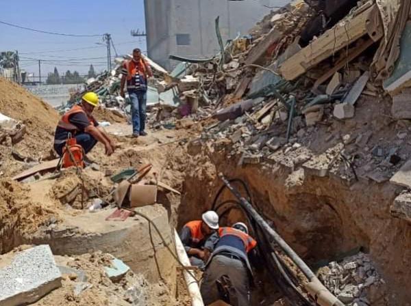 غزة: إنجاز الإصلاحات اللازمة بخطوط نقل التيار الكهربائي المتضررة نتيجة تدمير برج الجلاء