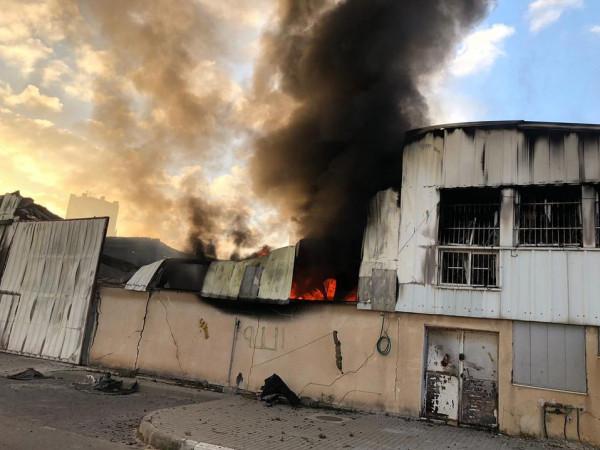 العدوان الإسرائيلي يستهدف مدينة غزة الصناعية ويتسبب بتدمير عدد من المصانع