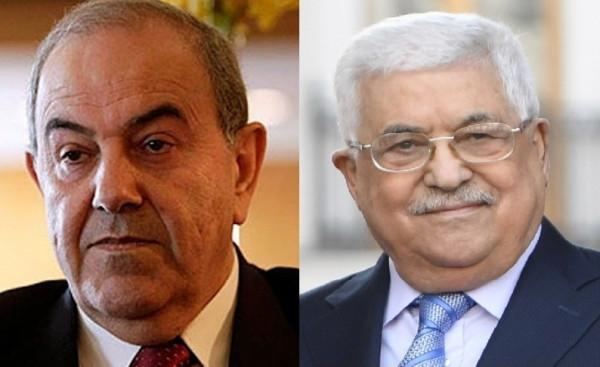 تفاصيل الاتصال الهاتفي بين الرئيس عباس ورئيس الوزراء العراقي الأسبق