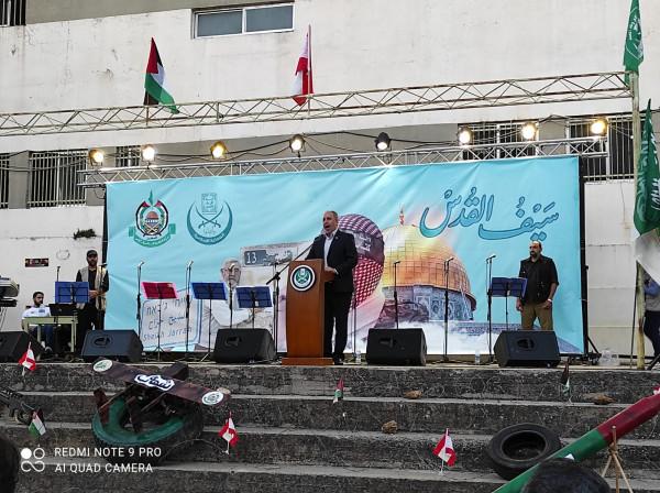 مهرجان جماهيري حاشد نصرة للمقاومة في طرابلس